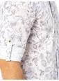 LC Waikiki Desenli Uzun Kollu Gömlek Beyaz
